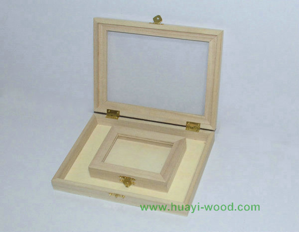 Transparent Acrylic Lid Wooden Boxes