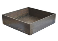square wood tray black finish