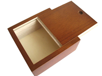 slide lid wooden box
