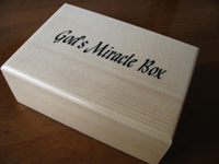 print logo wooden box