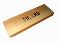 varnished silk tie box with screen print logo