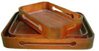 wooden collecting trays