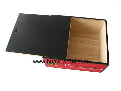 Slide Lid Wood Boxes For Gift Packing