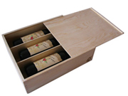 three bottle wine box